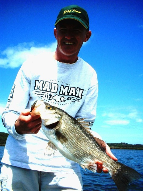 Rick Massie with a East Gippsland plastic caught Estuary Perch