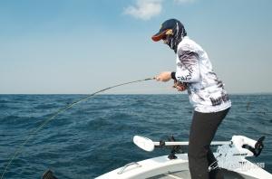 Vicki Fly Fishing Salmon