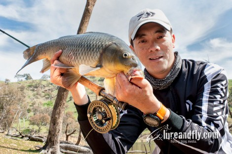 Fly fishing for carp 02