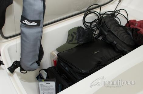 Front storage hatch fits plenty of gear