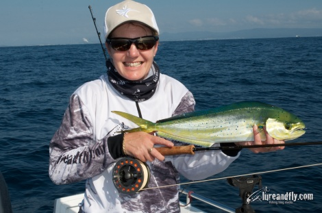 Vicki's 1st Dolphinfish on Fly